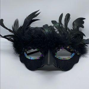 Masquerade Feather Eye Mask